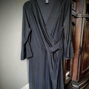 Gramercy 22 V Neck Black Dress